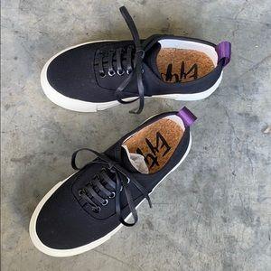 Eytys black canvas sneakers, Sz 5
